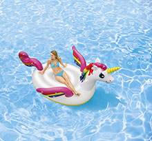 matelas gonflable licorne géante Raviday piscine