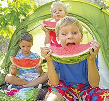 manger sain en camping