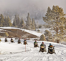 motoneige en campings ouverts en hiver