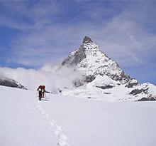 raquette camping à la montagne