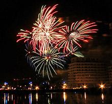 14 juillet, feu d'artifice Montpellier