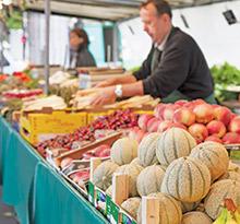marchés locaux en vacances