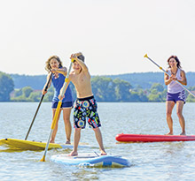 camping activités plein air sports nautiques