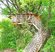 camping en cabane dans les arbres
